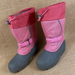 L.L Bean girls kids size 4 winter boots pink
